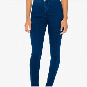 AMERICAN APPAREL HIGH WAISTED DARK DENIM